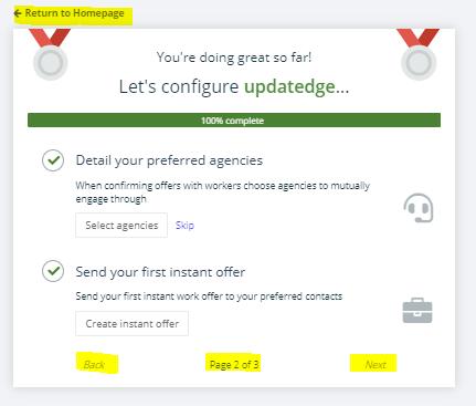updatedge add agencies