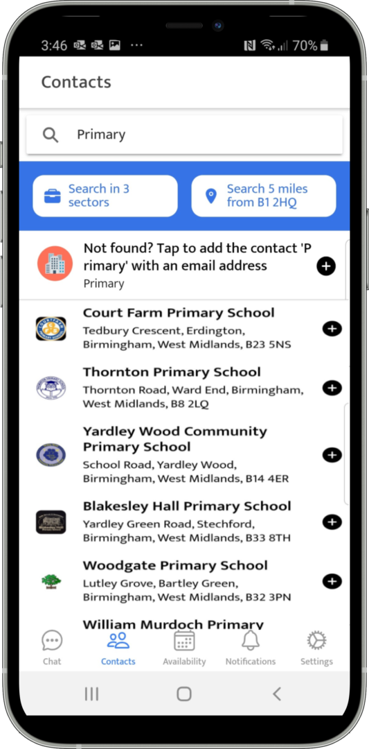 Search for local schools by type & proximity to your zip/postcode