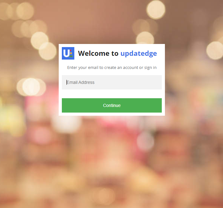 Updatedge Portal Create Account Sign In Page